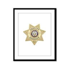 Oregon Deputy Sheriff Framed Panel Print