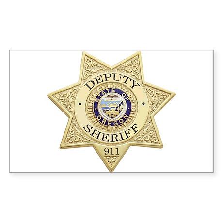 Oregon Deputy Sheriff Rectangle Sticker
