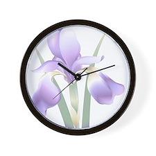 Unique Gynecologic cancer purple ribbon Wall Clock