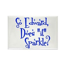 "Does ""it"" Sparkle? Rectangle Magnet"