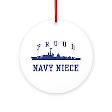 Proud Navy Niece Ornament (Round)