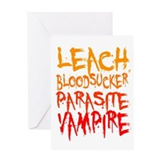 leach bloodsucker parasite vampire Greeting Card