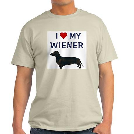 I (HEART) MY WIENER Light T-Shirt