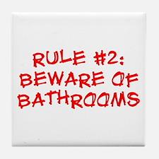 Rule #2 Tile Coaster