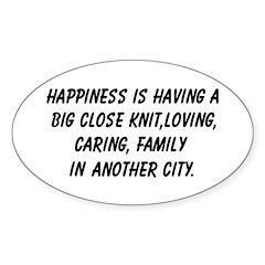 Close knit family Oval Sticker (10 pk)