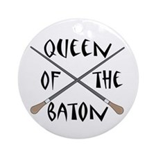 King or Queen Of The Baton Ornament (Round)