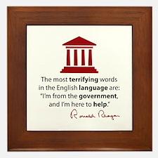 Reagan Quote Framed Tile