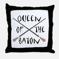 King or Queen Of The Baton Throw Pillow