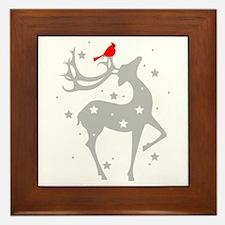 Winter Reindeer Framed Tile