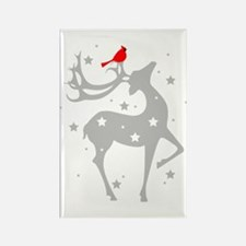 Winter Reindeer Rectangle Magnet