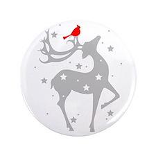 """Winter Reindeer 3.5"""" Button"""
