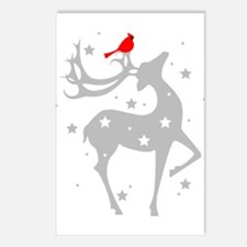 Winter Reindeer Postcards (Package of 8)