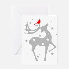 Winter Reindeer Greeting Card
