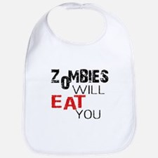 Zombies Will Eat You Bib