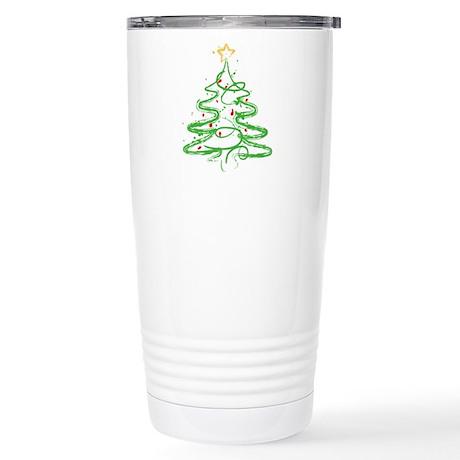 Christmas Tree Stainless Steel Travel Mug
