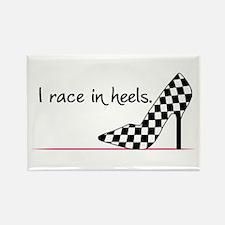 Race In Heels Rectangle Magnet