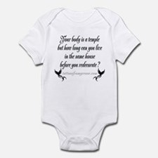 Your body is a temple... Infant Bodysuit