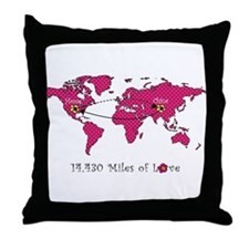 Miles of Love - China Throw Pillow