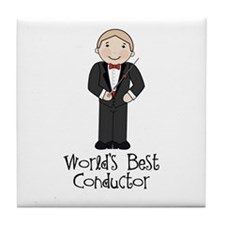 Worlds Best Conductor Tile Coaster