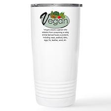 Vegan Definition Travel Mug