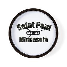 Saint Paul Established 1854 Wall Clock