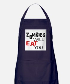 Zombies Will Eat You Apron (dark)