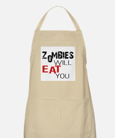 Zombies Will Eat You Apron