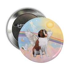 """St. Bernard Angel Dog 2.25"""" Button"""
