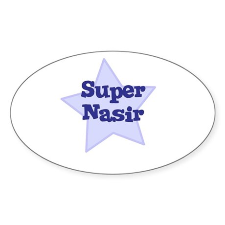 Super Nasir Oval Sticker
