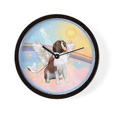 St. Bernard Angel Dog Wall Clock