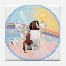 St. Bernard Angel Dog Tile Coaster