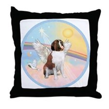 St. Bernard Angel Dog Throw Pillow