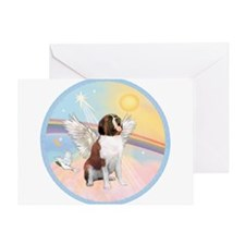 St. Bernard Angel Dog Greeting Card