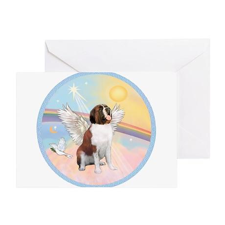 St. Bernard Angel Dog Greeting Card