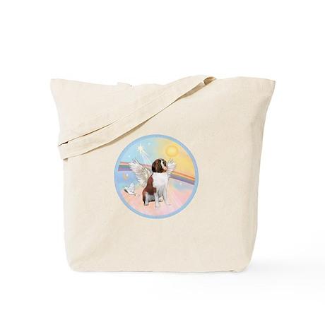 St. Bernard Angel Dog Tote Bag