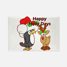 Holly Days Rectangle Magnet