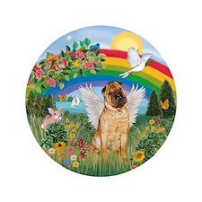"Rainbow - Shar Pei 2 3.5"" Button"