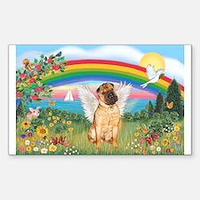 Rainbow - Shar Pei 2 Rectangle Decal