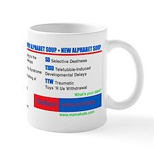 Alphabet Soup Small Mugs