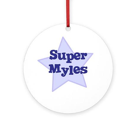 Super Myles Ornament (Round)