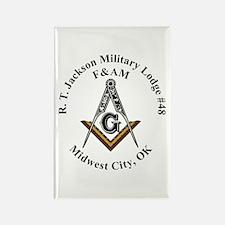 R.T. Jackson Military Lodge #48 Rectangle Magnet