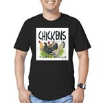 Chickens Taste Good! Men's Fitted T-Shirt (dark)