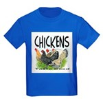 Chickens Taste Good! Kids Dark T-Shirt