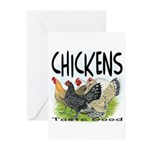 Chickens Taste Good! Greeting Cards (Pk of 20)
