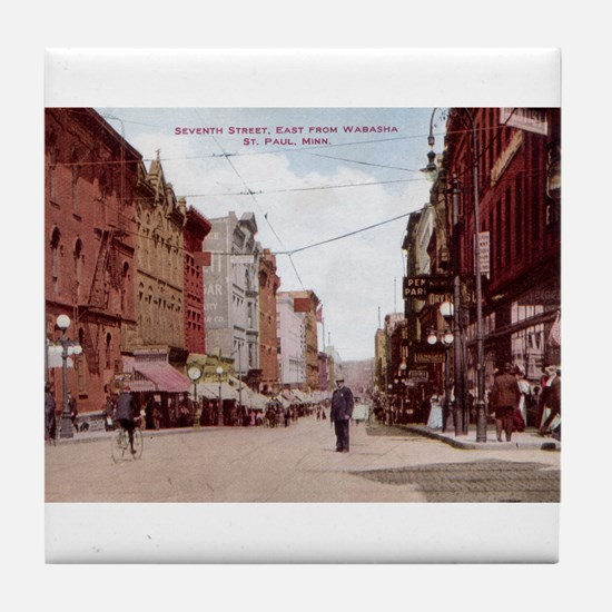 1908 Saint Paul 7th Street Tile Coaster