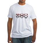 Eat Sleep Mafia Fitted T-Shirt