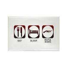 Eat Sleep Mafia Rectangle Magnet