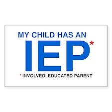 IEP Rectangle Bumper Stickers