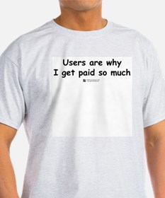 Users are why -  Ash Grey T-Shirt