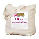 Love my log truck driver Tote Bag